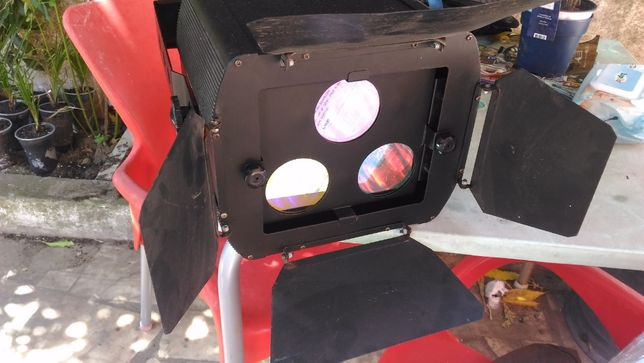Projectores RGB com palas