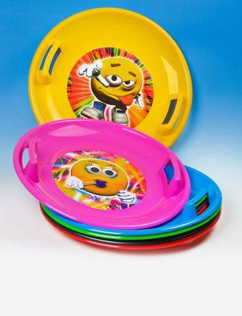 Talerz zjazdowy plastikowy okrągły sanki ślizg mix kolorów