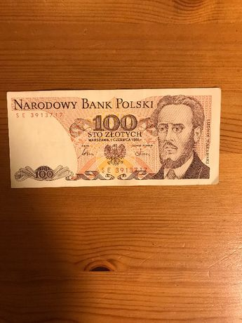 Banknot 100 zl 1986