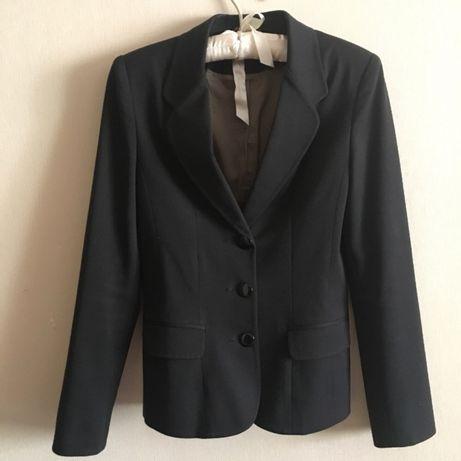 Чёрный пиджак для девочки (12-15 лет)