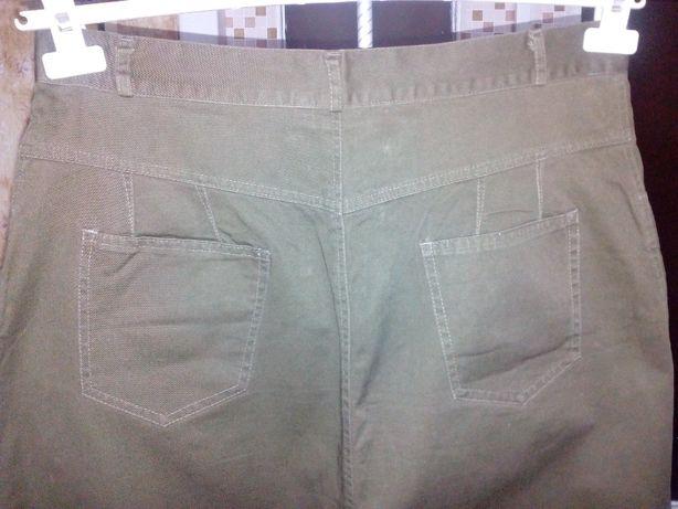 Юбка джинсовая большая оливковая