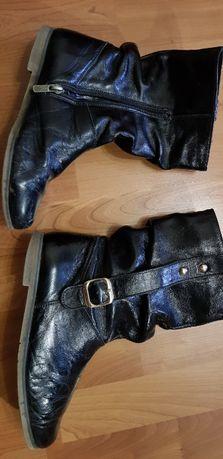 Сапоги кожаные деми на девочку 37 размер