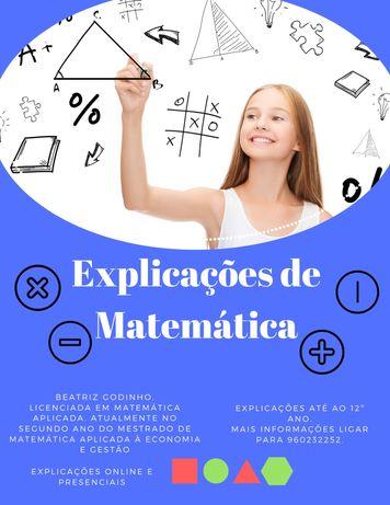 Explicações de Matemática (1º ano até 12º ano)