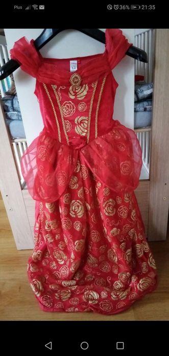 Sukienka czerwona strój karnawal świeta księżniczka Lubartów - image 1