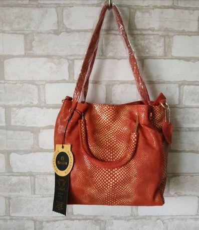 Красная сумка бренд REALER