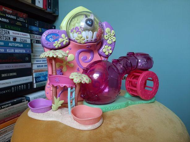 2 domki i elektroniczny pamiętnik littlest pet shop + 7 figurek gratis