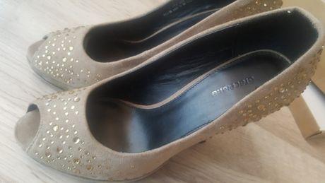 Buty na obcasie czółenka