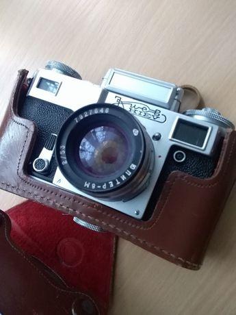 Radziecki aparat fotograficzny Kijew z etui. Sprawny.