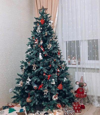 ТРЕНД 2020! Засніженна новорічна ялинка з шишками (Искуственная елка)
