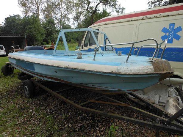 łódż motorowa motorówka jesion prl przyczepa podłodziowa