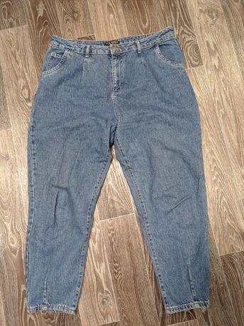 Модные, укороченные,  натуральные джинсы большого размера. одеты один