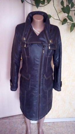 Пальто-пуховик, еврозима , косуха, мокрый асфальт, m-l