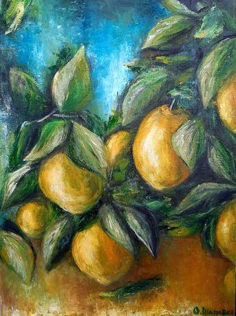 Картина масло лимон