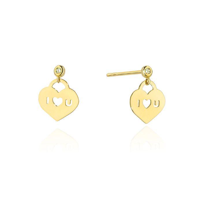 Złote kolczyki z brylantami Milówka - image 1