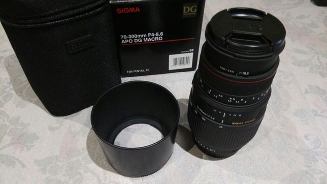 Tele-Objectiva Digital Sigma 70-300mm f/4-5.6 c/ Macro (para Pentax)