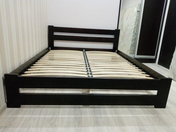 Дерев'яне двоспальне ліжко, кровать розміром 160х200