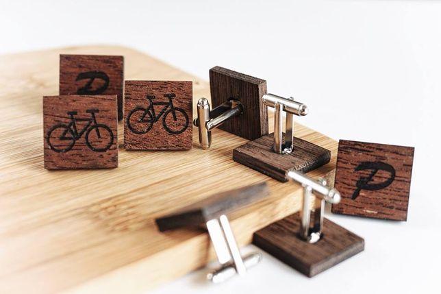 Spinki drewniane do mankietów / mankietowe / z Twoim grawerunkiem