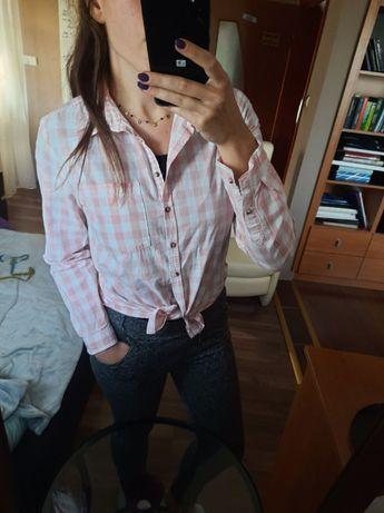 Różowa koszula w kratę