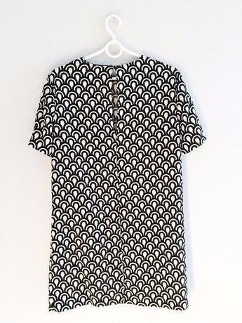 Czarno biała sukienka, rozmiar S, firma:ZARA