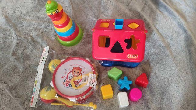 Zestaw zabawek sorter piramida instrumenty wysylka 1 zl