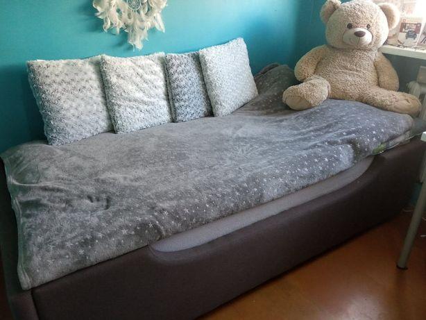 Łóżko tapicerowane 90x200 z podnoszonym stelażem STAN BDB.!