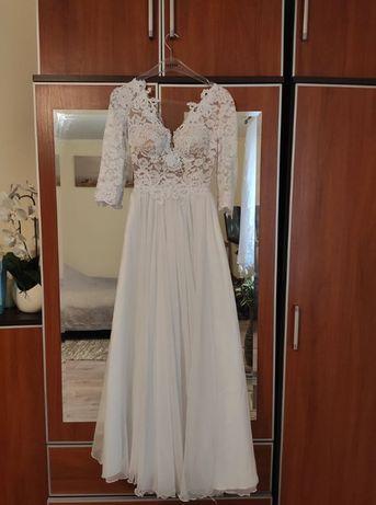 Romantyczna suknia ślubna, XS, litera A