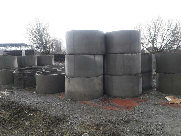 Залізо-бетонні кільця та кришки для колодязів та каналізацій .Доставка