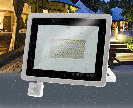 Foco led 100w exterior com sensor de movimento NOVOS
