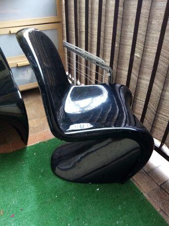 Krzesło czarne fotel
