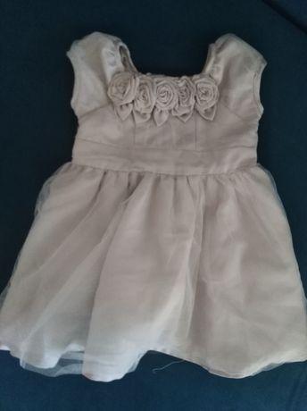 Sukienka do chrztu, elegancka 74, 6-9 mcy