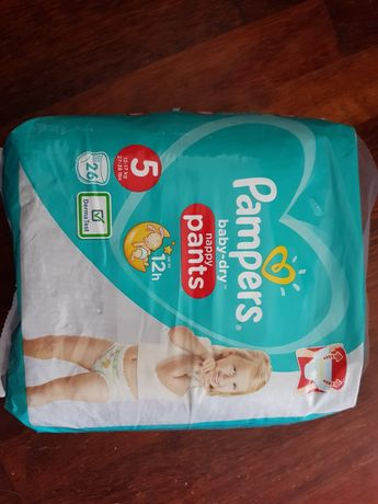 Niemieckie Pampers baby-dry, Pants, rozmiar 5, 26 szt., Premium Care