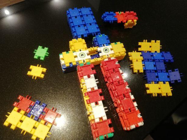 Klocki konstrukcyjne , Klik , Kliksy - super zestaw ok 300 elementów