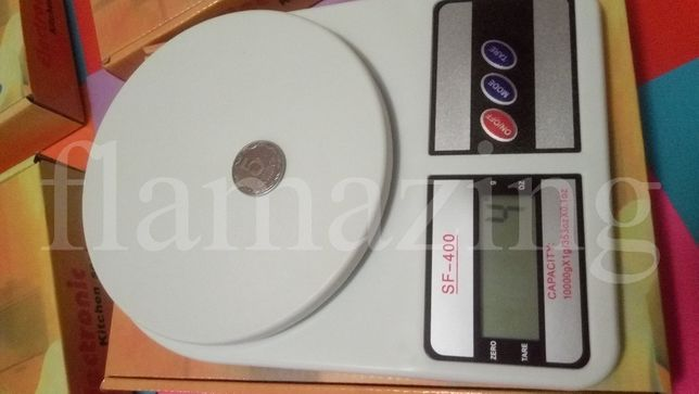 Кухонные весы до 5 кг, LCD дисплей SF-400 ваги кухонні 100 ГРН