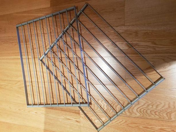 IKEA - 2 prateleiras em aço, tipo grelha, 46x58 cm