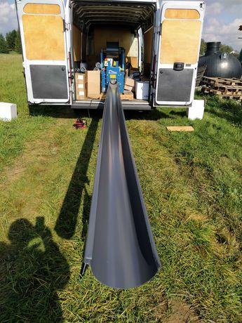 Rynny Stalowe bez złączek w systemie ciągłym 150mm