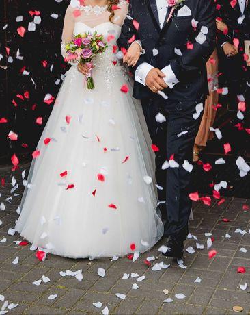 Sprzedam suknię ślubną , kolor ecru