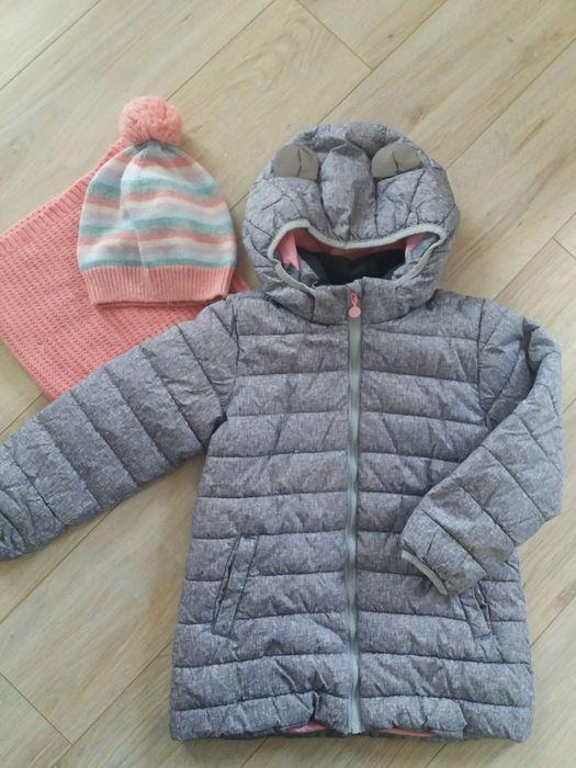 Kurtka, czapka i komin H&M dla dziewczynki rozmiar 116 Jabłonowo Pomorskie - image 1