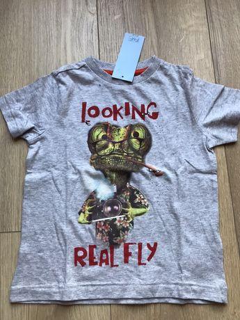 Koszulka z jaszczurka f&f nowa tshirt bluzka