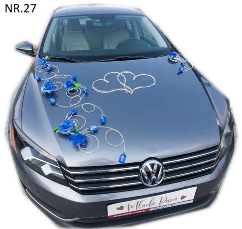 Elegancka szafirowa dekoracja na samochód mocowana na przyssawce