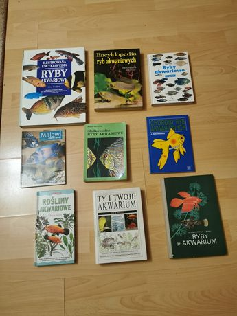 Książki o tematyce akwarystyczne.