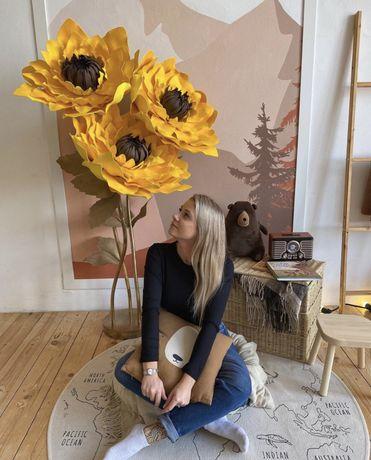 Большые цветы, фотозоны, ростовые цветы