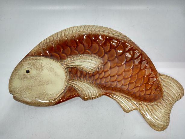 Patera ceramiczna w kształcie ryby