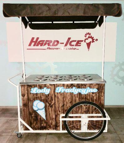 Wózek, riksza, witryna, dystrybutor, konserwator do lodów, 8 smaków