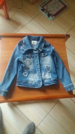 Kurtka dla dziewczynki jeansowa