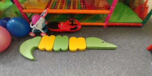 Kształtki piankowe na rzepy, krokodyl Moje Bambino