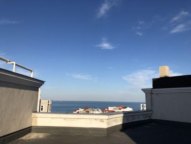 Квартира в двух уровнях! ТЕРРАСА 120м с видом на МОРЕ! Французский HOT