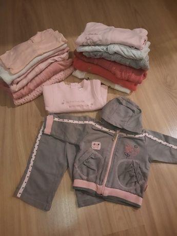 Mega paka ubrań dla dziewczynki 62-68 (93 sztuki)