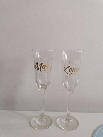 Kieliszki szampan najlepszy mąż najlepsza żona rocznica wesele ślub
