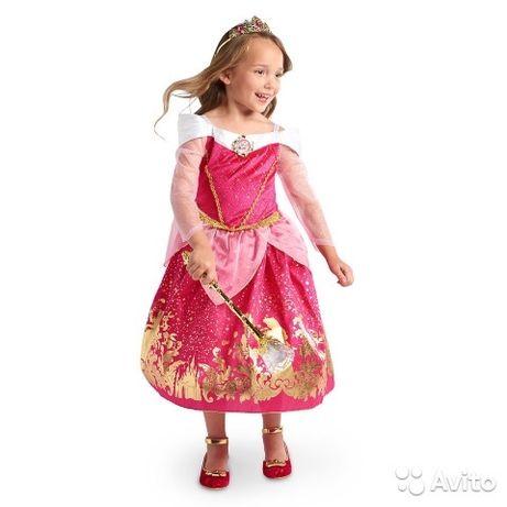 Новый карнавальный костюм платье и туфельки Disney принцессы Авроры