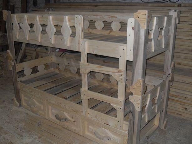 Изготовим кровать деревянную под заказ